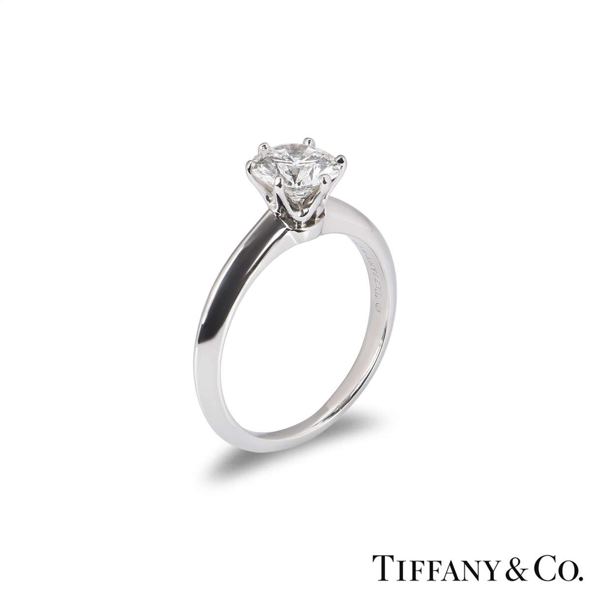 Tiffany & Co. Round Brilliant Cut Diamond Ring 0.99ct G/VS2 XXX